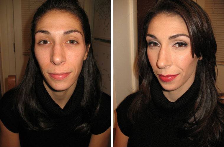 before and after makeup application