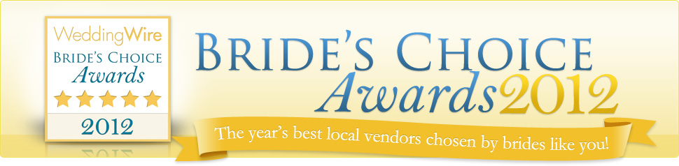 Wedding Wire Bride's Choice Award 2012 banner