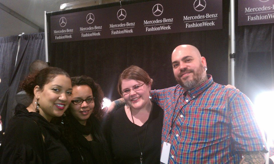 Makeup team backstage at Mercedes-Benz Fashion Week