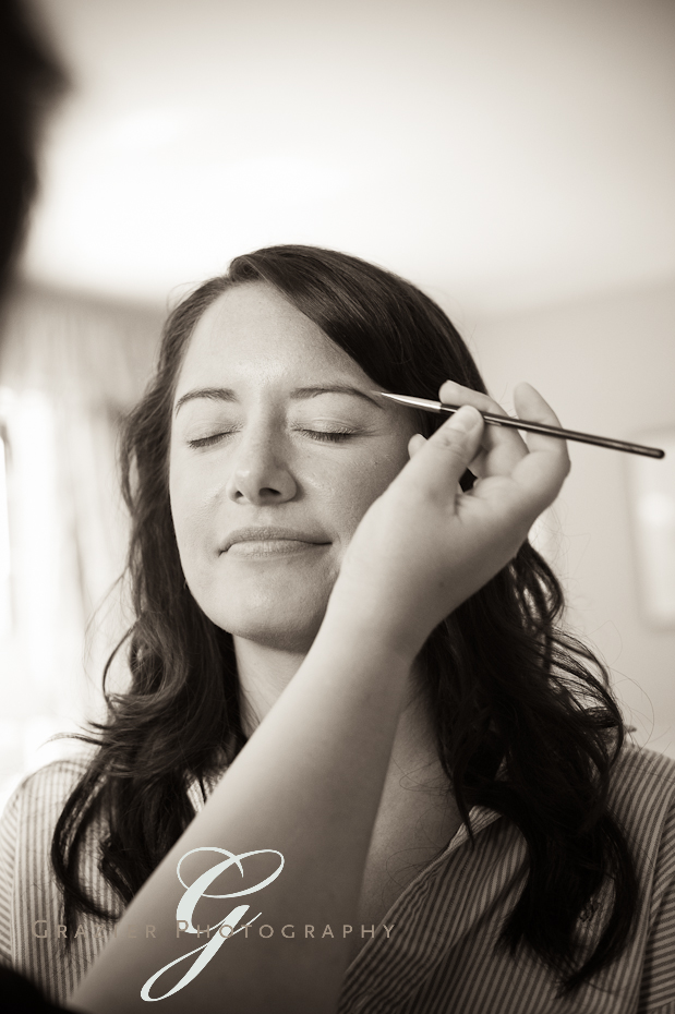 eyebrow makeup for a berkshire bride