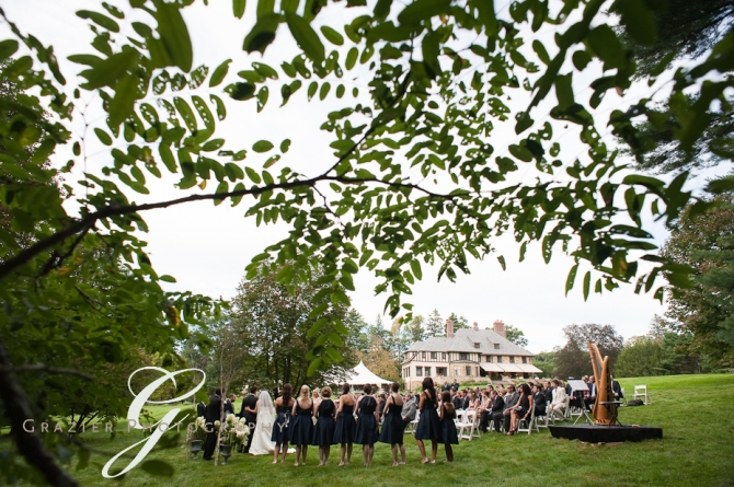 Wedding at the Winthrop Estate Lenox MA