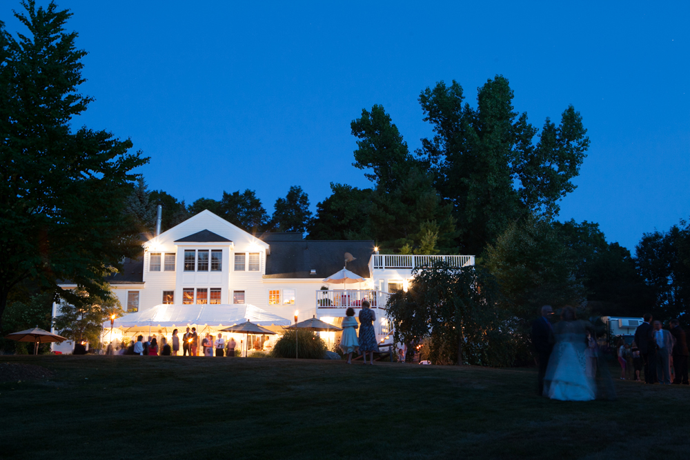 wedding reception at a family estate in the Berkshires