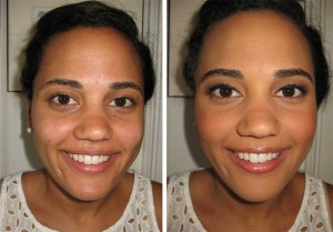 Airbrush makeover for a soft natural look