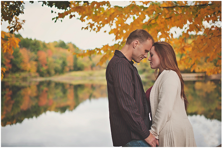 Autumn Engagement shoot at Puffers Pond in Amherst MA