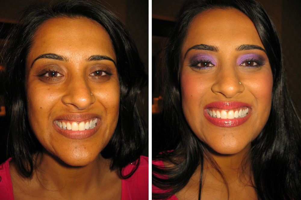 indian bridal before and after for a sangeet in waterbury ct
