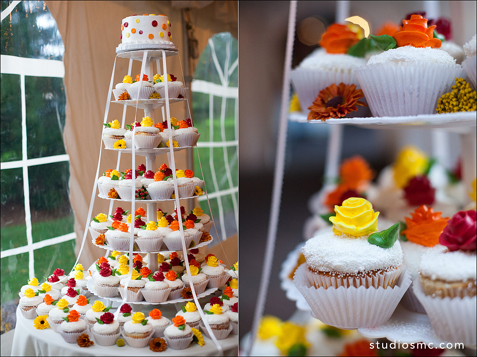 Autumn inspired wedding cupcakes