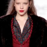 Bebe Black Fall 2012 New York Fashion Week runway makeup trends red lips
