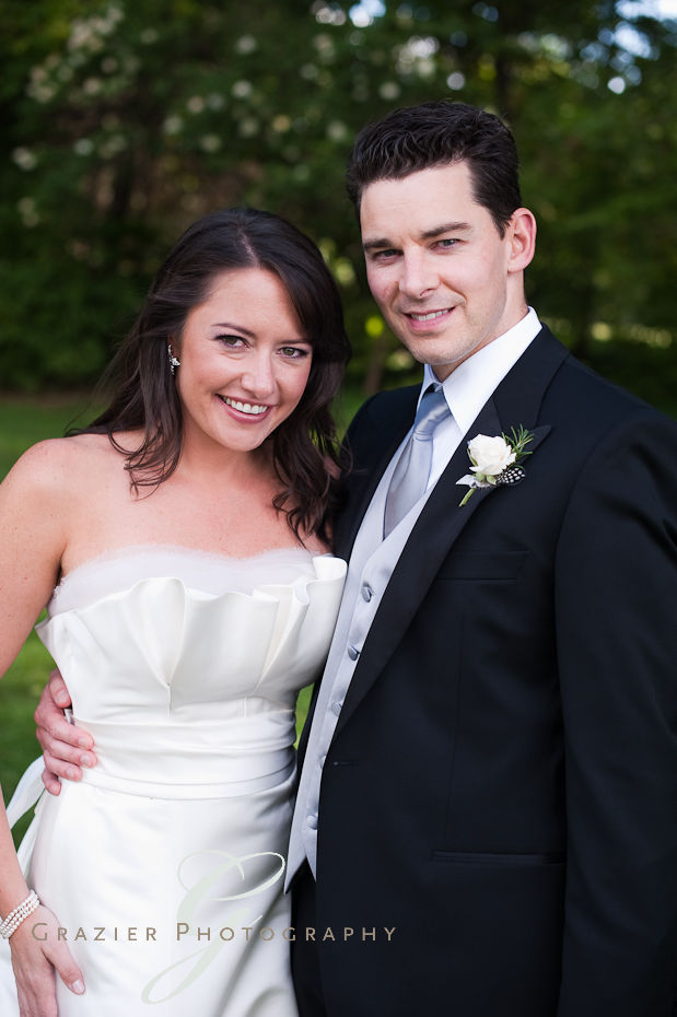 bride and groom at the Winthrop Estate Lenox MA