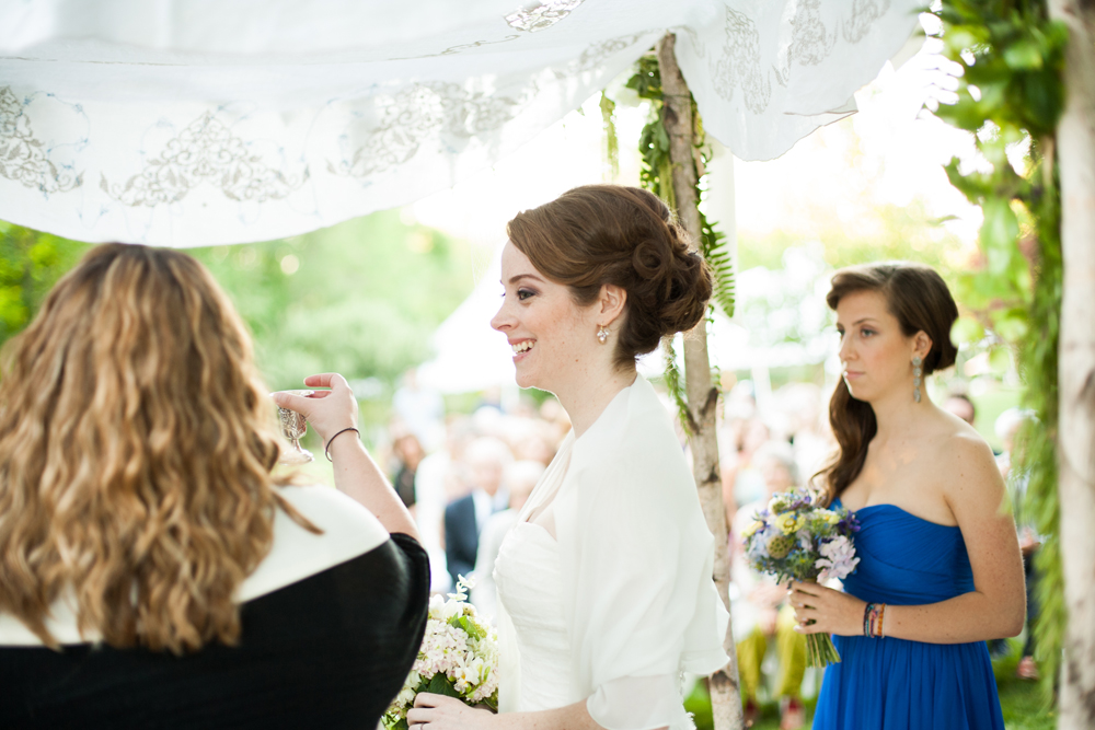 bride under the Chuppah