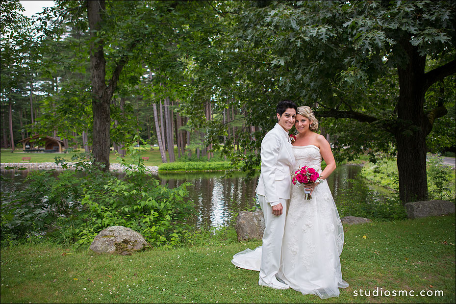 Two brides at Look Park in Florence MA