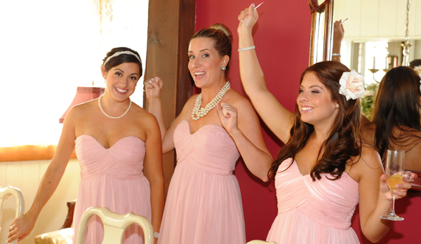 """Let's hear it for the bride!"" (Photo: Max Benjamin.)"
