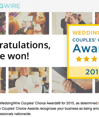 Proud to be Couples' Choice 2015!