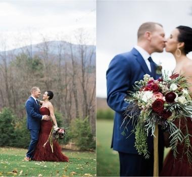 Renee's November wedding at Kemble Inn, Lenox MA