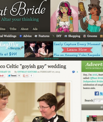 KB & Fran's Eco Celtic Wedding featured on Offbeat Bride